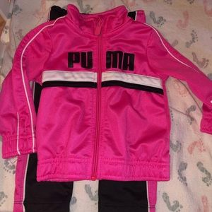 Baby girls puma track suit